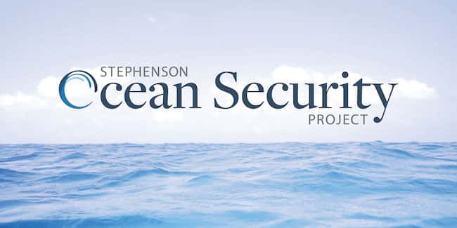 An image of the Ocean Security logo on top of ocean waves.